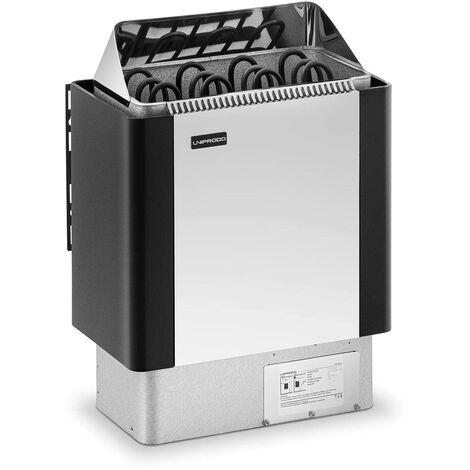 Uniprodo Poêle Radiateur Électrique Chauffage Fournitures Pour Sauna Cabines de 5-9 m³