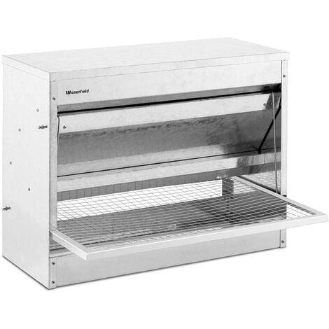 Mangeoire Automatique Pour Volaille Poule 11,5 kg Marchepied En Acier Galvanisé