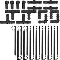 Tuyau Micro Poreux Arrosage Goutte à Goutte Irrigation Raccords Accessoires 30m