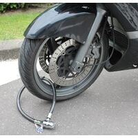Antivol Vélo, Moto Cable 80 cm + 2 Clés - Alarme 110 dB