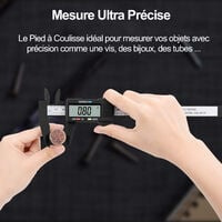 Pied à Coulisse Digital Numérique 150 mm - Écran LCD - Fibre de Carbone - Avec Étui
