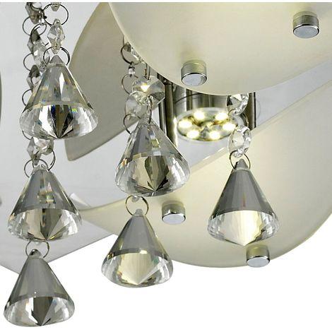 12 W DEL Plafonnier Salle à manger de cuisine Lampe Chrome environ 4-Brûleur EEK A
