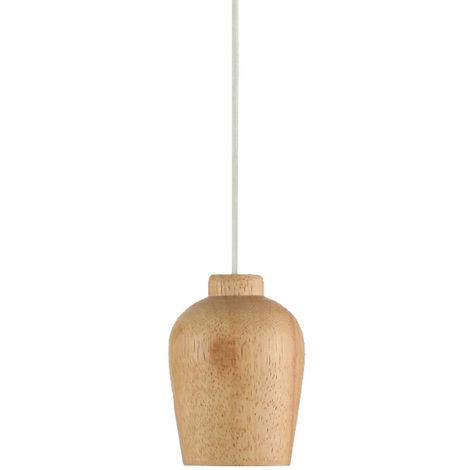 Suspension lustre abat-jour bois cuisine salle à manger éclairage luminaire plafond