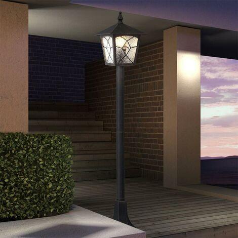 Socle Debout Lampe De Terrasse Éclairage extérieur balcon lanterne lampe alu noir