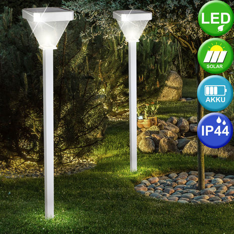 Quatre solaire DEL lumière solaire signalisation extérieure fleurs Lampe de jardin terrasse fleurs