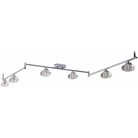 DEL mur lampe alu projecteurs mobiles Chambre Design Spot Lampe Argent