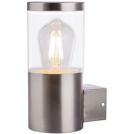Applique en acier inoxydable projecteur de façade éclairage de jardin lampe d'extérieur design Globo 34019