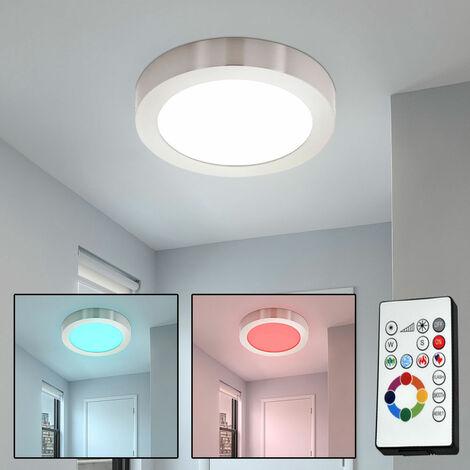 RGB DEL Plafonnier lampe chambre Télécommande Changement De Couleur Projecteur Réglable