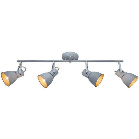 RETRO Plafonnier Spot Poutre de la rampe de salon gris réglable Globo 54712-4N