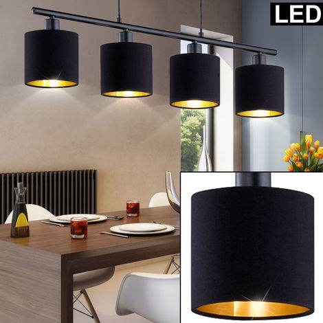 Suspendu Lampe Pendule Table à manger cuisine Globo suspendu lampe 40 cm Textile Parapluie argent
