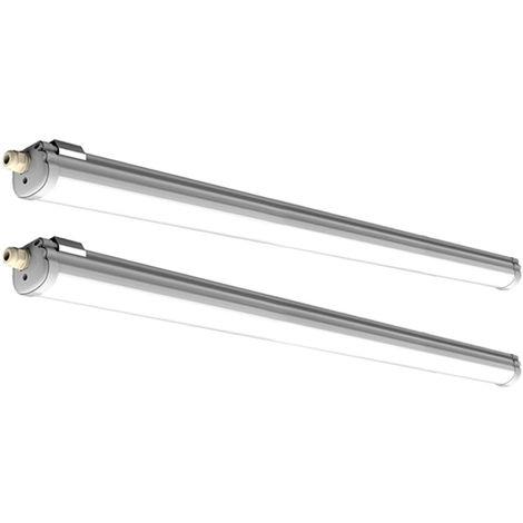 2x 36 watts SMD LED tubes tubes luminaire atelier lumière du jour plafonnier V -TAC 6284