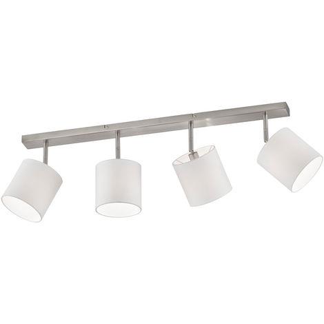 Plafonnier salon poutres spot lampe textile orientable DIMMER dans un ensemble avec éclairage LED RGB