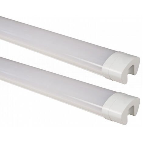 2x baignoires LED spots de plafond lampe halls atelier lampe de pièce humide humide