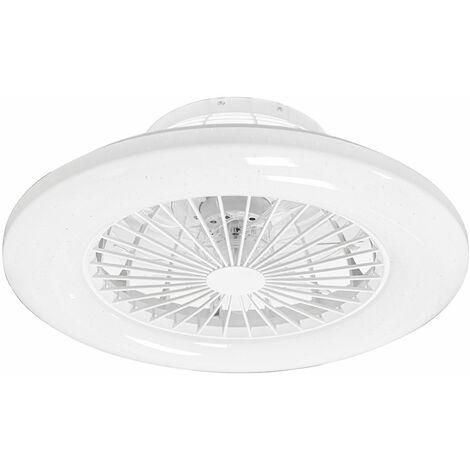 Ventilateur de plafond LED SILENCIEUX TÉLÉCOMMANDE effet étoile lumière DIMMABLE salon lumière du jour lampe de minuterie ventilateur 3 vitesses