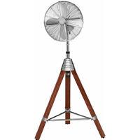 Ventilateur de sol Climatiseur ALU Cool Ventilateur réglable de vent Trépied de bois AEG VL 5688 S
