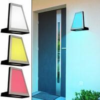 Applique LED façade projecteur extérieur filtre couleur ALU anthracite lumière de jardin IP54 Luteq 1874S_GR