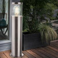 Base en acier inoxydable lampadaire chemin de jardin éclairage patio lumière extérieure argent Globo 34019S1