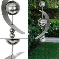 Design Jardin Décoration En Acier Inoxydable En Plein Air Fleur De Betterave Plug Sphère Conception Argent Harms 507189