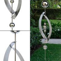 Prise de jardin en acier inoxydable balle design jardin fleur lit pot décoration extérieure argent Harms 507191