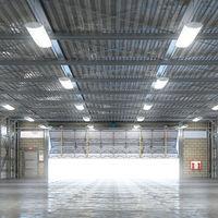 2x lampe de salle d'eau industrielle d'éclairage de salle d'éclairage d'atelier d'entrepôt de lampe de pièce humide de LED