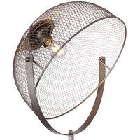 Lampe sur pied à trépied à télécommande Lampe à cage réglable en hauteur sur 3 pieds à intensité variable dans un ensemble comprenant des ampoules LED RVB
