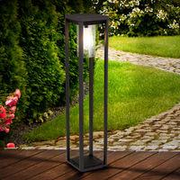 Lampadaire d'extérieur sur pied ALU noir mat lampe de jardin DIMMABLE dans un ensemble comprenant des ampoules LED RGB