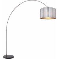 Lampadaire design marbre lampadaire réglable télécommande dimmable argent dans un ensemble comprenant des ampoules LED RVB