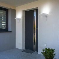 Lot de 5 appliques murales d'extérieur LED en aluminium spots de balcon façade lampes de parc blanc