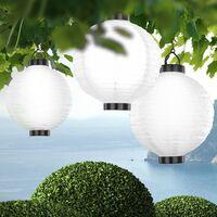 Suspension solaire DEL luminaire lampion éclairage lampe LED jardin terrasse espace extérieur