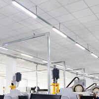 Ensemble de 2 tubes de tubes à LED de 44 watts lumières spots de plafond garages lampes de sous-sol