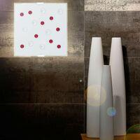 LED 6 watts plafond mur lampe de chambre d'amis décoration chrome pierres de verre carré