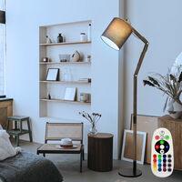 Lampadaire articulé lampe en bois télécommandée réglable dimmable dans un ensemble comprenant des ampoules LED RVB
