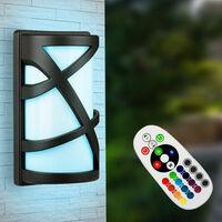 Applique murale ALU projecteurs de façade télécommande lampe d'extérieur dimmable dans un ensemble comprenant des lampes LED RGB