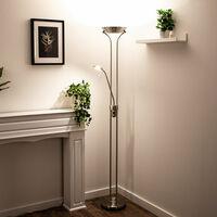 Projecteur de plafond à LED spot de lecture lampe sur pied réglable lampe sur pied éclairage de salon à intensité variable