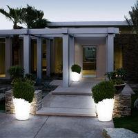 2 x lampe solaire LED pot à fleurs luminaire extérieur jardin terrasse éclairage décoration
