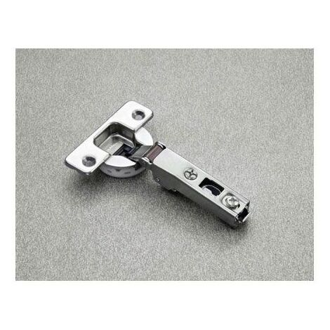 Charnière salice 800 silentia - Fixation : A visser - Coudure de charnière : 9 mm - Entraxe : 48 mm - SALICE - Décor : Nickelé