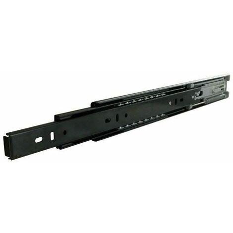 Coulisse de tiroir à billes avec amortisseur - 40 kg - sortie totale - A et B : 550 mm - C : 192 mm - D : 256 mm - F : - - H : 384 mm - Longueur : 550 mm - TCASYSTEM - E : 16 mm