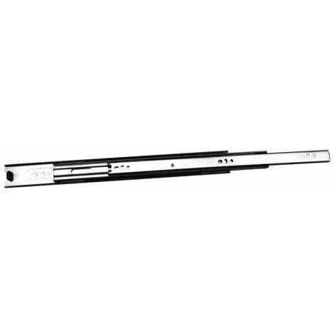 Coulisses de tiroir à billes - 25 kg - sortie totale - A : 190 mm - B : - - E : - - F : - - Longueur : 300 mm - TCASYSTEM - D : 128 mm