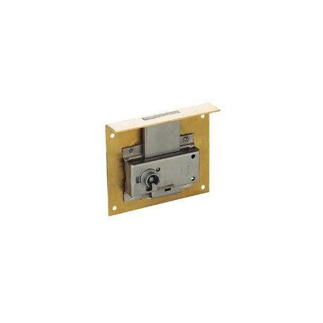 Serrure à entailler pour tiroir - Axe : 35 mm - Hauteur : 60 mm - SERFA