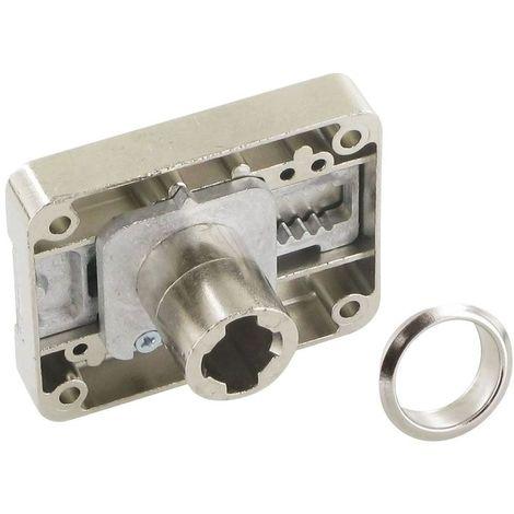 Serrure à plaquer à axe variable - Décor : Nickelé - Sens : Droit - Axe : 15 à 40 mm - Barillet : Z23 - LEHMANN - Barillet : Z23