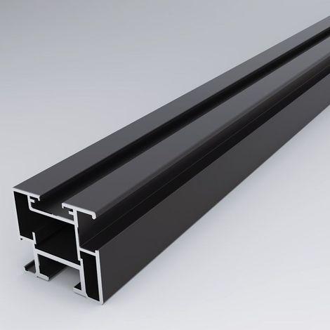 Kit porte coulissante verrière - RAL : 9005 - Décor : Noir granité - SEED - RAL : 9005