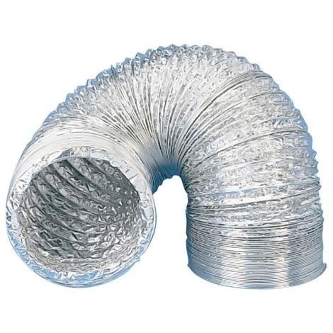 Gaine aluminium souple - Diamètre : 150 mm - UNELVENT - Vendu à l'unité
