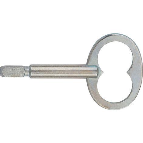 Clé mâle carrée - Décor : Zingué - Carré : 6 - ITAR