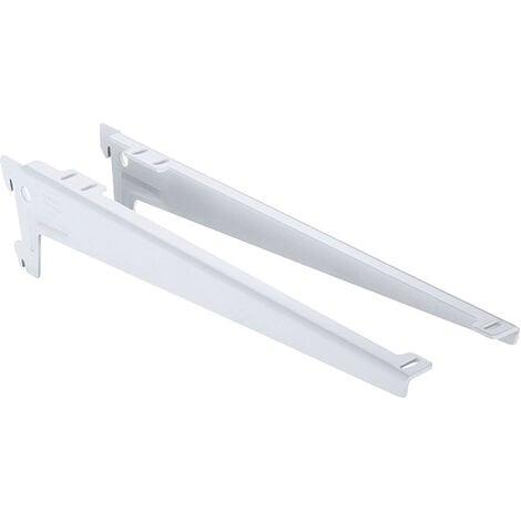 Console équerre au pas de 50 - Décor : Blanc - Longueur : 180 mm - ELEMENT SYSTEM - Décor : Blanc