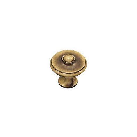 Bouton lyonnais laiton - Hauteur : 31 mm - Diamètre : 34 mm - DUBOIS