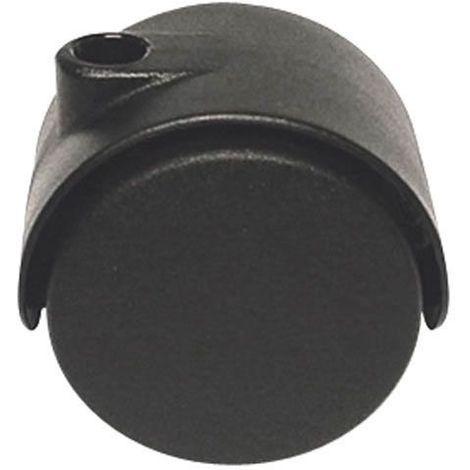 Roulette pivotante Ø40 sans fixation - Blocage : Sans - Hauteur utile : 41 - Décor : Noir - GUY RAYMOND - Vendu à l'unité