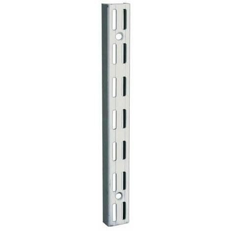Crémaillère double en acier - entraxe 32 mm - Décor : Noir mat - Longueur : 220 mm - RAL : 9005 - ELEMENT SYSTEM - Décor : Noir mat
