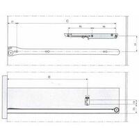 Amortisseur pour tiroir bois - Décor : Gris - INDAUX