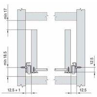 Coulisses de tiroir à galets - 35 kg - sortie 3/4 - Décor : Marron - Longueur : 300 mm - HARN - Push : Non