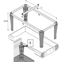 Cadres amovible pour dossier suspendus - Pour tiroir de profondeur : 536 mm - HETTICH - Vendu à l'unité